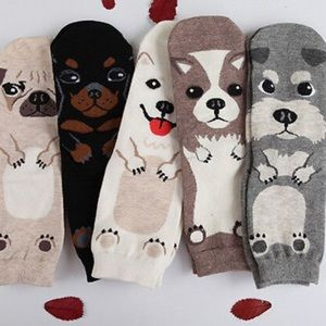 New! 5 Pairs of Adorable Puppy Socks